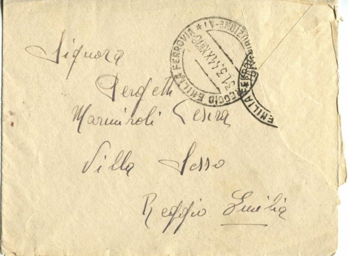03.Serena Pergetti-busta lettera dal carcere