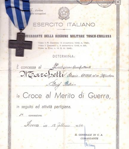 01.Daria Bertolani Marchetti - Croce al Merito di Guerra