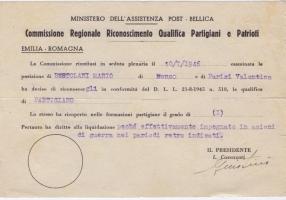 01.Daria Bertolani Marchetti - Documenti partigiani marito