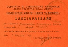 01.F.L. Wronoeska - Lasciapassare CLN-CVL