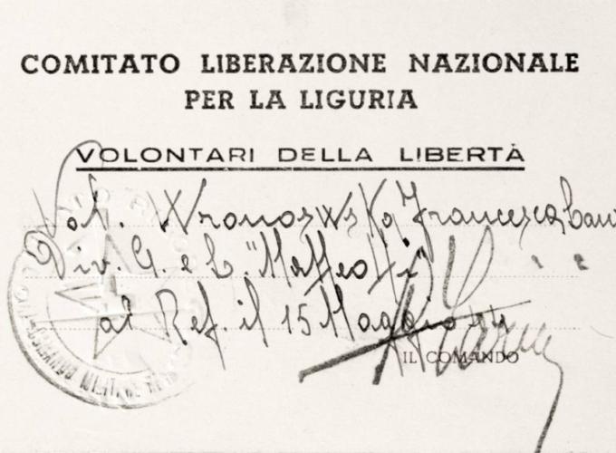 01.F.L. Wronowska - Tessera CLN Liguria