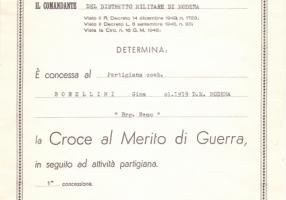 01.Gina Borellini - Croce al Merito di Guerra