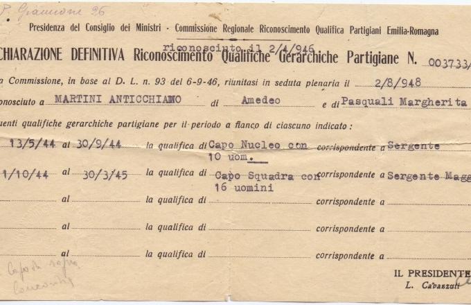 01.Gina Borellini - Documenti partigiani del marito
