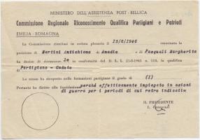 02.Gina Borellini - Documenti partigiani del marito