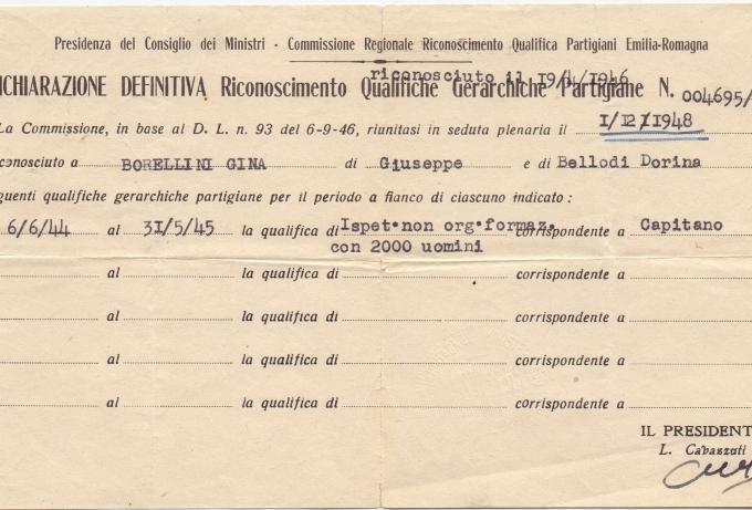 03.Gina Borellini - Documenti partigiani