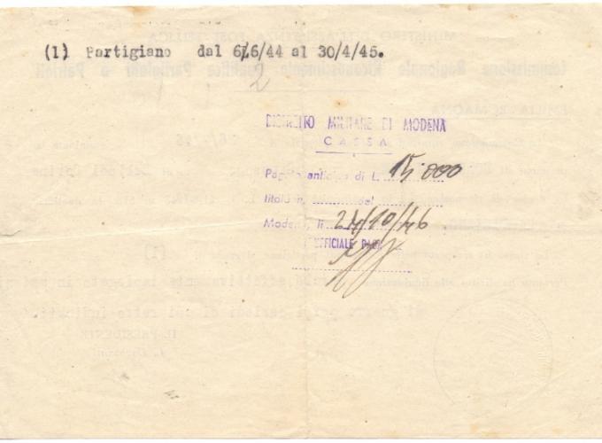 04.Gina Borellini - Documenti partigiani