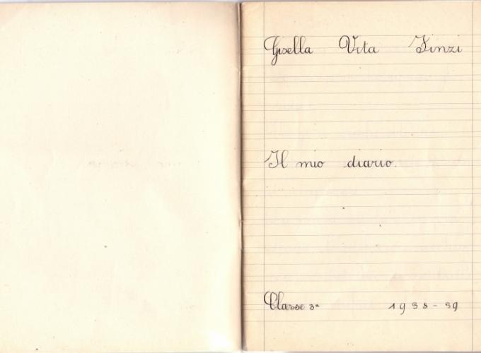 02.Gisella Vita Finzi - Diario scolastico 1938