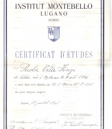 02.Paola Vita Finzi - Certificato di studi in Svizzera